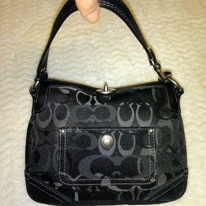 Coach optic signature Chelsea black Handbag cluth